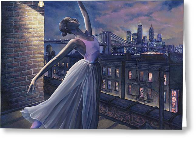 Rooftops Greeting Cards - Its Never Too Late Greeting Card by Dennis Goff