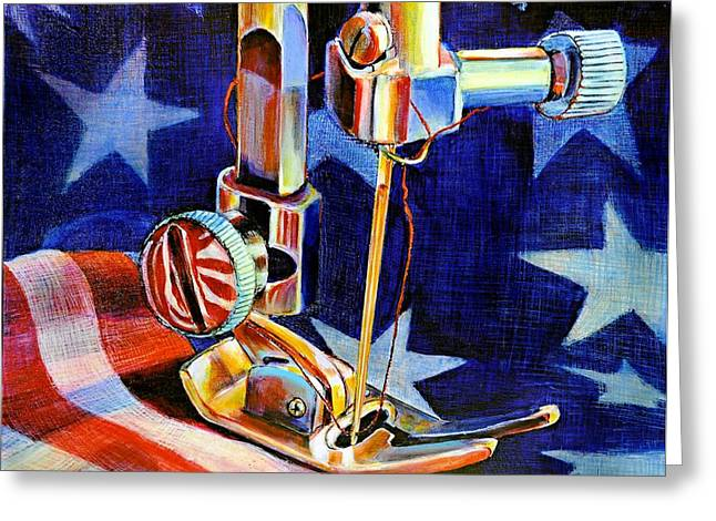 American_flag Greeting Cards - Its Still Fashionable Greeting Card by JAXINE Cummins