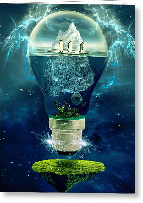 Glass Wall Greeting Cards - Its the End of the World as We Know It Greeting Card by Erik Brede