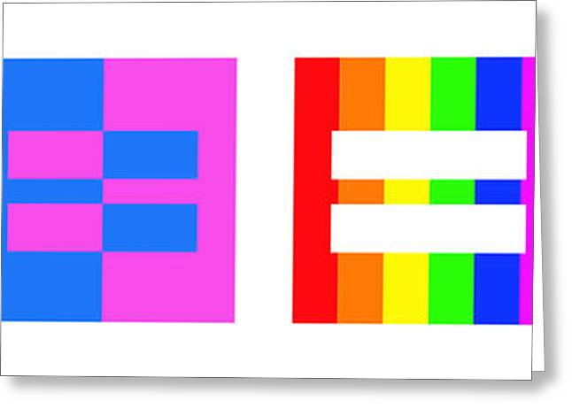 Print Greeting Cards - Its Time - Equal Rights For All By Sharon Cummings Greeting Card by Sharon Cummings