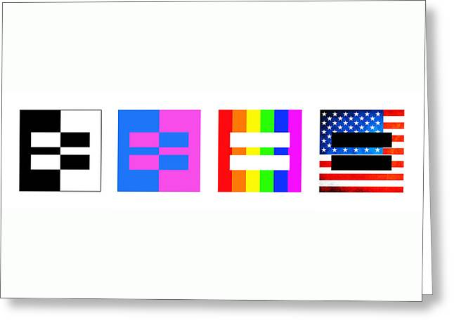 It's Time - Equal Rights For All By Sharon Cummings Greeting Card by Sharon Cummings