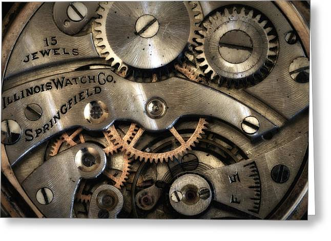 Mechanism Greeting Cards - Its Time Greeting Card by Robert Woodward