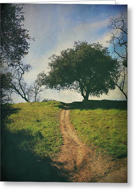 Walking Paths Greeting Cards - Its Time to Get Up That Hill Greeting Card by Laurie Search