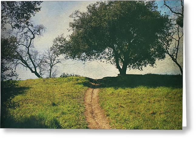 It's Time to Get Up That Hill Greeting Card by Laurie Search