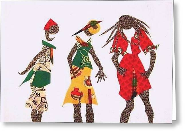 Hat Tapestries - Textiles Greeting Cards - Its too Tight Greeting Card by Ruth Yvonne Ash