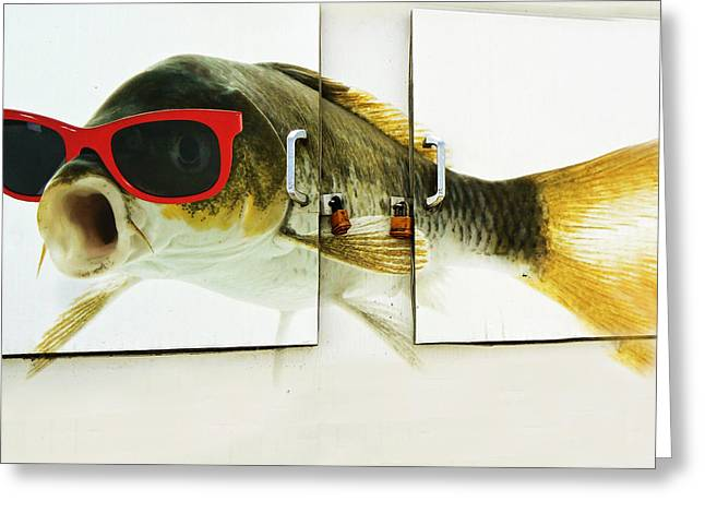 Stockton Greeting Cards - Its Your Fish with Shades Greeting Card by Pamela Patch