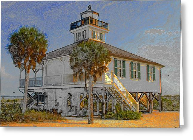 Boca Greeting Cards - Boca Grande Lighthouse 1890 Greeting Card by David Lee Thompson