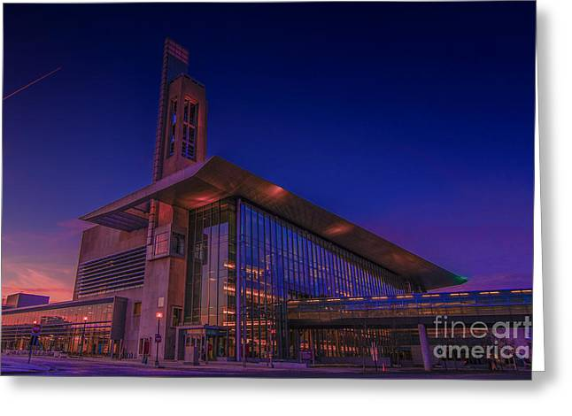Campus Life Greeting Cards - IUPUI Sunset 2014 Greeting Card by David Haskett