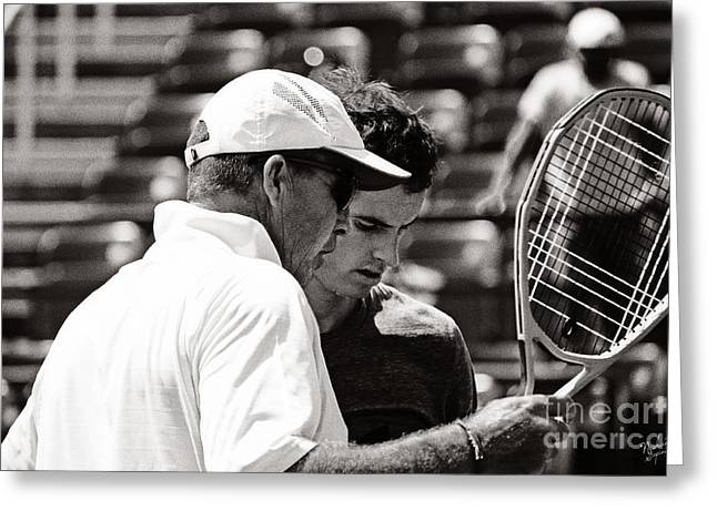 Ivan Lendl And Andy Murray  Greeting Card by Nishanth Gopinathan