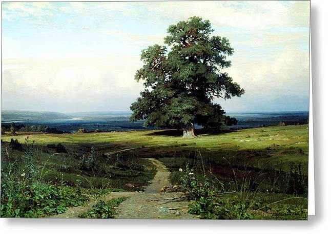 Kilburne Greeting Cards - Ivan Shishkin In the Open Valley1883  Greeting Card by MotionAge Designs