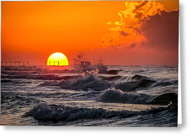 Beach Photography Greeting Cards - Ivan Was Here Greeting Card by CarolLMiller Photography