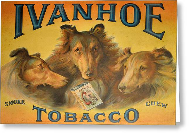 Ad Greeting Cards - Ivanhoe Tobacco - The American Dream Greeting Card by Christine Till