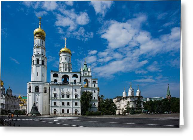 Archangel Greeting Cards - Ivanovskaya Square Of Moscow Kremlin Greeting Card by Alexander Senin