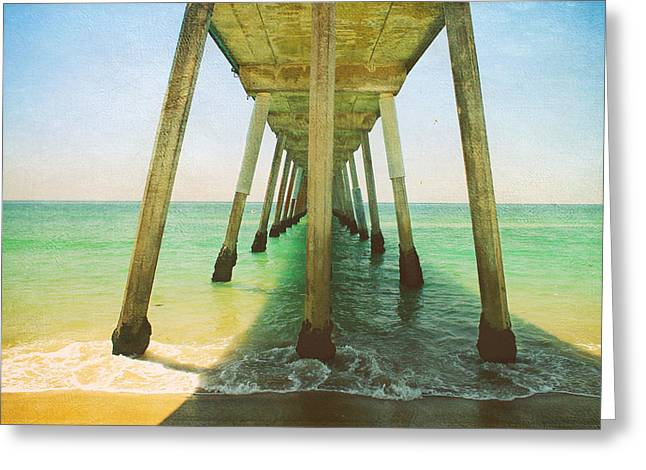 Pier Digital Greeting Cards - Ive Been Here Before Greeting Card by Laurie Search