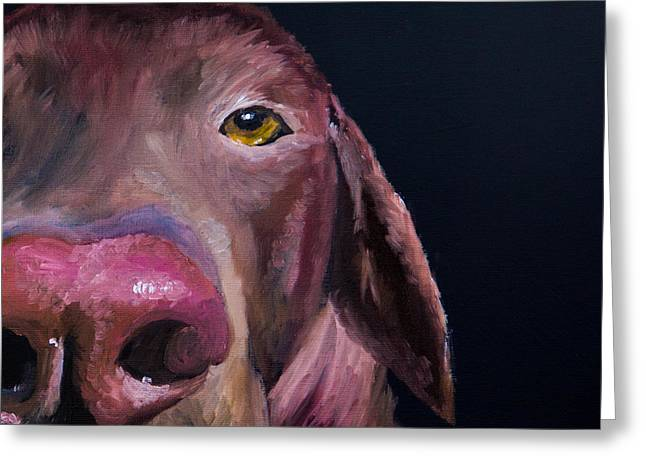 Chocolate Lab Greeting Cards - Ive Got An Eye On You Greeting Card by Roger Wedegis