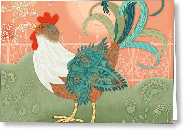 Valerie Drake Lesiak Greeting Cards - Ive Got To Crow Greeting Card by Valerie   Drake Lesiak
