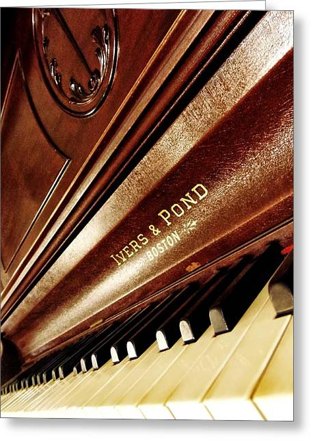 Metal Sheet Mixed Media Greeting Cards - Ivers Ponds Piano 2 Greeting Card by Todd and candice Dailey