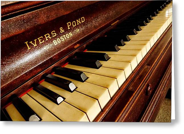 Metal Sheet Mixed Media Greeting Cards - Ivers Ponds Piano Greeting Card by Todd and candice Dailey