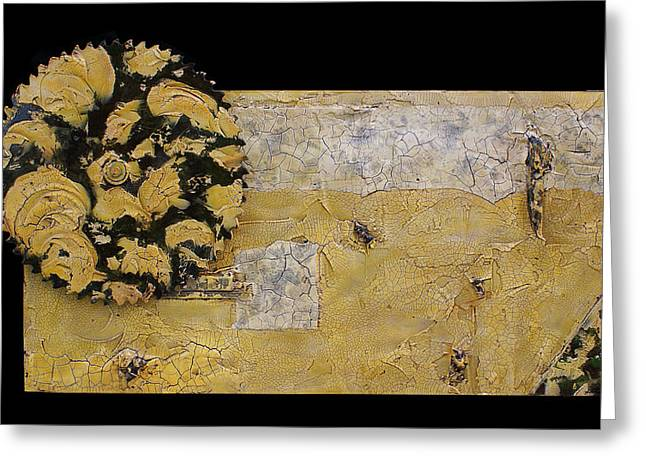 Saw Mixed Media Greeting Cards - Ivy Acres Greeting Card by Christopher Schranck