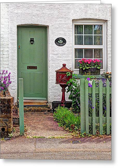 Ivy Cottage Welcome Greeting Card by Gill Billington