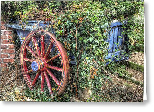 Overgrown Greeting Cards - Ivy Covered Cart Greeting Card by Mal Bray