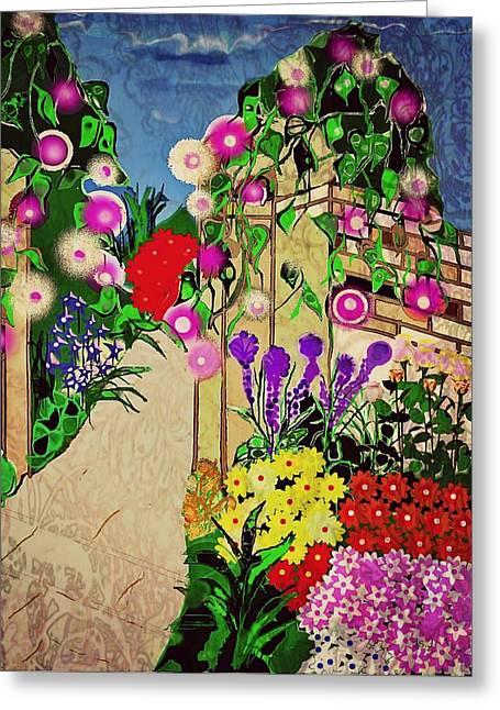 Jan Steadman-jackson Greeting Cards - Ivy Pillars Greeting Card by Jan Steadman-Jackson