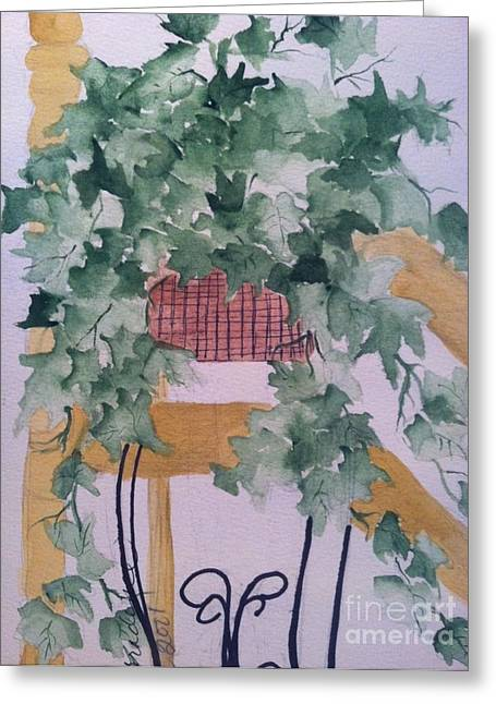Wild Orchards Paintings Greeting Cards - Ivy Greeting Card by Sherry Harradence