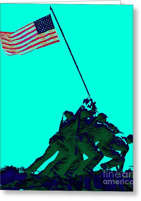 4th July Digital Greeting Cards - Iwo Jima 20130210m128 Greeting Card by Wingsdomain Art and Photography