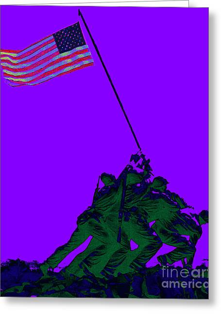 4th July Digital Greeting Cards - Iwo Jima 20130210m28 Greeting Card by Wingsdomain Art and Photography