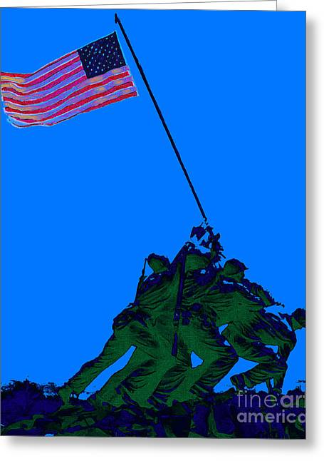 4th July Digital Greeting Cards - Iwo Jima 20130210m88 Greeting Card by Wingsdomain Art and Photography