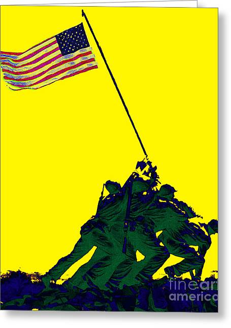 4th July Digital Greeting Cards - Iwo Jima 20130210p118 Greeting Card by Wingsdomain Art and Photography