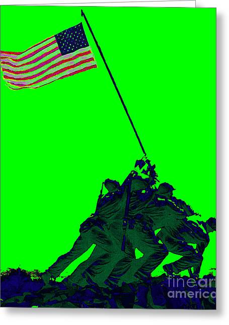 4th July Digital Greeting Cards - Iwo Jima 20130210p180 Greeting Card by Wingsdomain Art and Photography