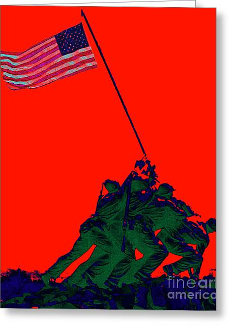 4th July Digital Greeting Cards - Iwo Jima 20130210p65 Greeting Card by Wingsdomain Art and Photography