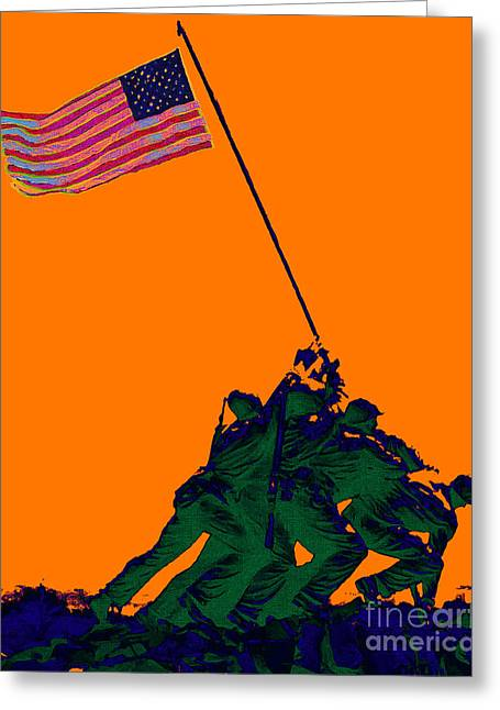 4th July Digital Art Greeting Cards - Iwo Jima 20130210p88 Greeting Card by Wingsdomain Art and Photography