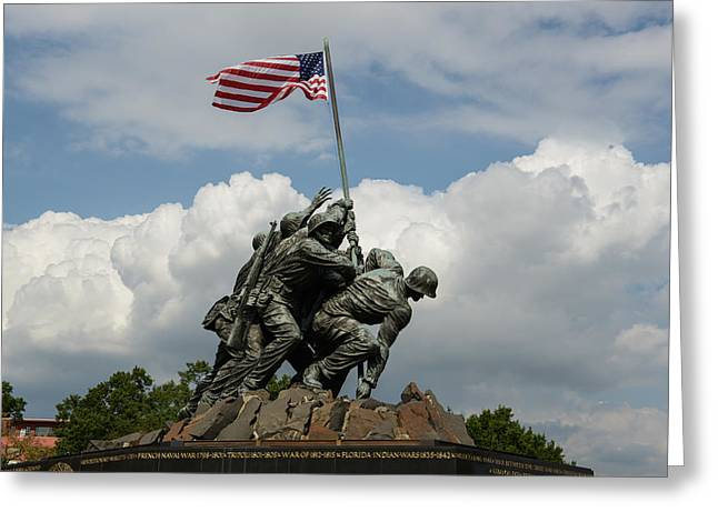 Bravery Greeting Cards - Iwo Jima Greeting Card by Brandon Bourdages
