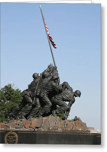 Iwo Jima Memorial - 12121 Greeting Card by DC Photographer