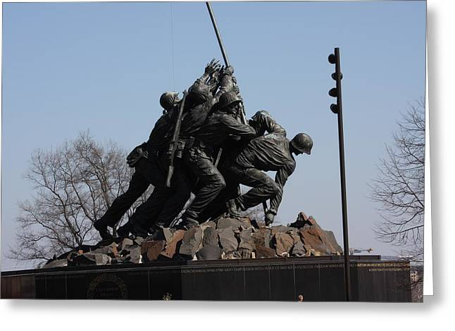 Memorials Greeting Cards - Iwo Jima Memorial - 12122 Greeting Card by DC Photographer