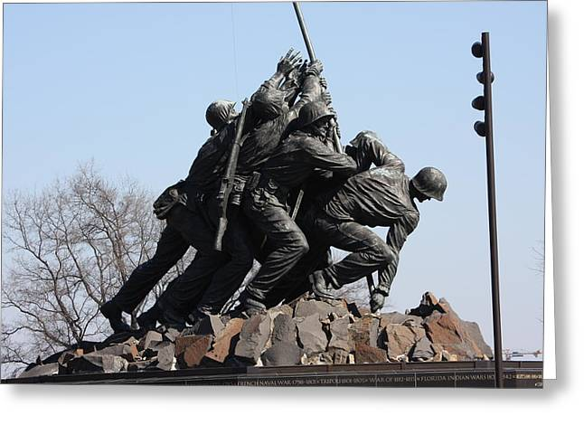 Battle Greeting Cards - Iwo Jima Memorial - 12123 Greeting Card by DC Photographer