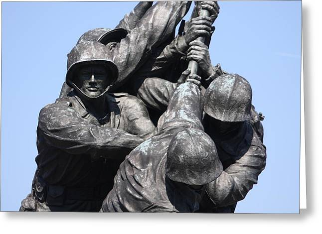 Solider Greeting Cards - Iwo Jima Memorial - 12124 Greeting Card by DC Photographer