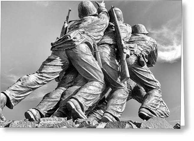 Bravery Greeting Cards - Iwo Jima Memorial Greeting Card by Cindy Archbell