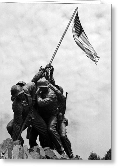 Canteen Greeting Card featuring the photograph Iwo Jima Memorial Washington Dc by Greg and Chrystal Mimbs