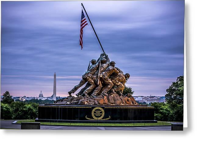 Iwo Jima Monument Greeting Card by David Morefield