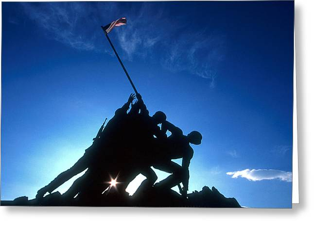 Ww11 Photographs Greeting Cards - Iwo Jima Remenbered Greeting Card by Joe  Connors