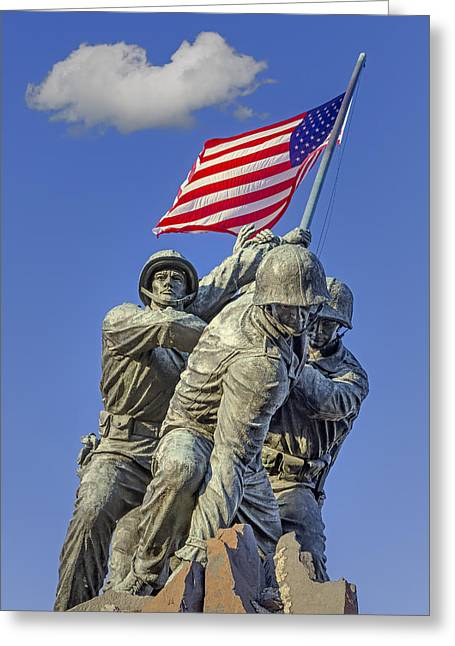 Us Capitol Greeting Cards - Iwo Jima United States Marine Corps Greeting Card by Susan Candelario