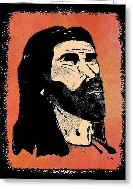 Jesus Mixed Media Greeting Cards - Ixoye 2 Greeting Card by Glenn McCarthy Art and Photography
