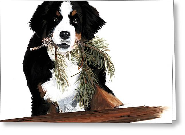 Expert Greeting Cards - Iz a Lumberjack Greeting Card by Liane Weyers