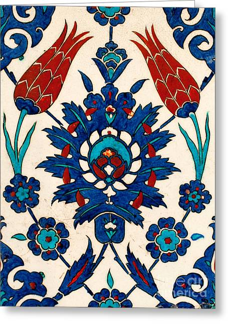 Ceramic Glazes Greeting Cards - Iznik 03 Greeting Card by Rick Piper Photography