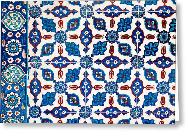 Iznik 14 Greeting Card by Rick Piper Photography
