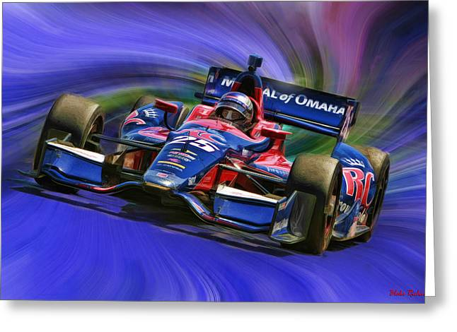 Marco Andretti Greeting Cards - IZOD INDYCAR SERIES Marco Andretti  Greeting Card by Blake Richards