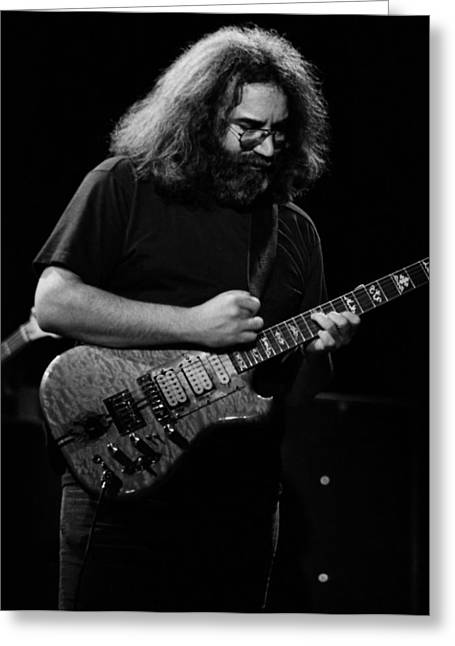 Jerry Garcia Band Greeting Cards - J G B #37 Greeting Card by Ben Upham